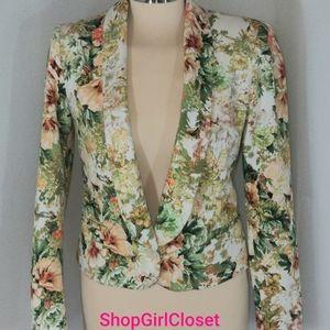 Zara Basic Blazer...floral....Size M